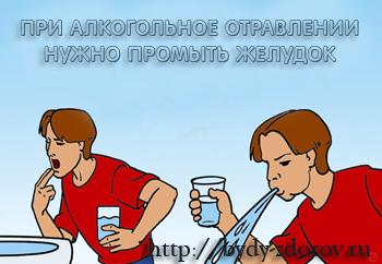 промыть желудок